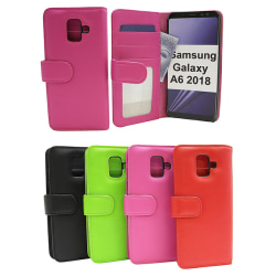 Plånboksfodral Samsung Galaxy A6 2018 (A600FN/DS) Röd