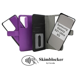 Skimblocker Magnet Fodral Samsung Galaxy S21 Ultra 5G Svart