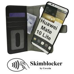 Skimblocker Magnet Wallet Huawei Mate 10 Lite (Svart)