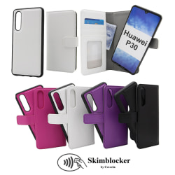 Skimblocker Magnet Wallet Huawei P30 Svart