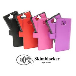 Skimblocker Magnet Wallet Huawei Y6 2017 (MYA-L41) Svart