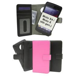 Skimblocker Magnet Wallet Moto X4 / Moto X (4th gen) Hotpink