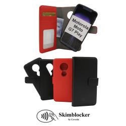 Skimblocker Magnet Wallet Motorola Moto G7 Play Svart