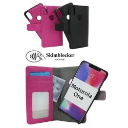 Skimblocker Magnet Wallet Motorola One Svart