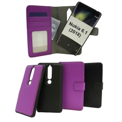 Skimblocker Magnet Wallet Nokia 6 (2018) Svart