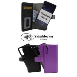 Skimblocker Magnet Wallet OnePlus Nord (Svart) Svart