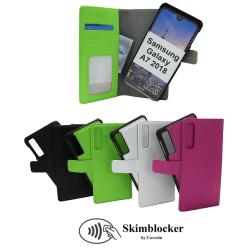 Skimblocker Magnet Wallet Samsung Galaxy A7 2018 (A750FN/DS) Hotpink