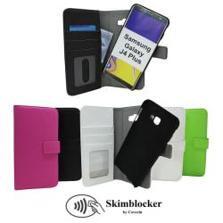 Skimblocker Magnet Wallet Samsung Galaxy J4 Plus (J415FN/DS) Grön