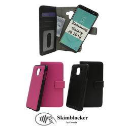 Skimblocker Magnet Wallet Samsung Galaxy J6 2018 (J600FN/DS) Svart