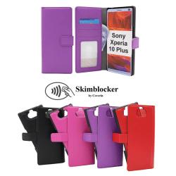 Skimblocker Magnet Wallet Sony Xperia 10 Plus Röd