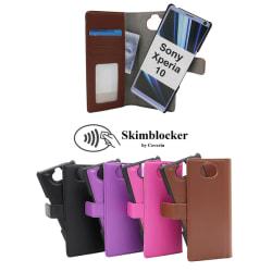 Skimblocker Magnet Wallet Sony Xperia 10 Svart