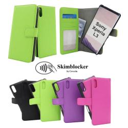 Skimblocker Magnet Wallet Sony Xperia L3 Svart