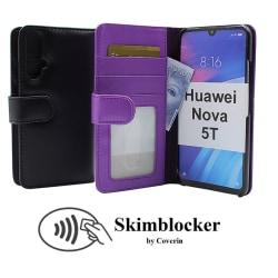 Skimblocker Plånboksfodral Huawei Nova 5T Lila