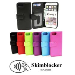 Skimblocker Plånboksfodral iPhone 7 Svart