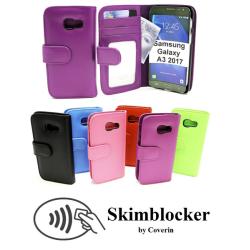 Skimblocker Plånboksfodral Samsung Galaxy A3 2017 (A320F) Svart