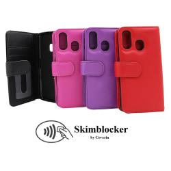 Skimblocker Plånboksfodral Samsung Galaxy A40 (A405FN/DS) Svart