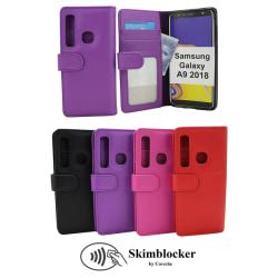 Skimblocker Plånboksfodral Samsung Galaxy A9 2018 (A920F) Svart