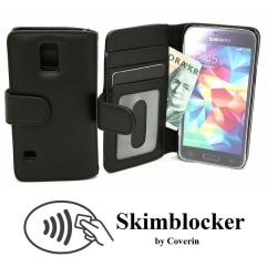 Skimblocker Plånboksfodral Samsung Galaxy S5 Mini (G800F)