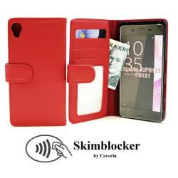 Skimblocker Plånboksfodral Sony Xperia X (F5121) Röd