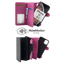 Skimblocker XL Magnet Wallet iPhone 11 (6.1) Svart