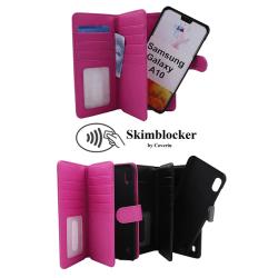 Skimblocker XL Magnet Wallet Samsung Galaxy A10 (A105F/DS) Hotpink