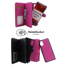 Skimblocker XL Magnet Wallet Samsung Galaxy A51 (A515F/DS) Svart