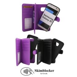 Skimblocker XL Magnet Wallet Samsung Galaxy S7 (G930F) Lila
