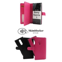 Skimblocker XL Magnet Wallet Sony Xperia 1 (J9110) Hotpink