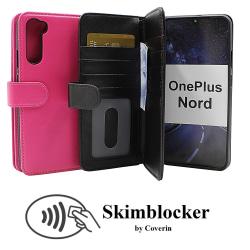 Skimblocker XL Wallet OnePlus Nord (Svart) Hotpink