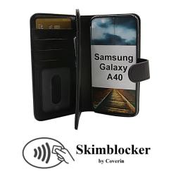 Skimblocker XL Wallet Samsung Galaxy A40 (A405FN/DS) Svart