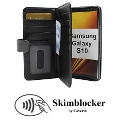 Skimblocker XL Wallet Samsung Galaxy S10 (G973F) (Svart)