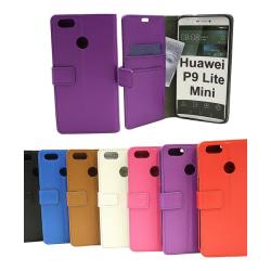 Standcase Wallet Huawei P9 Lite Mini Röd