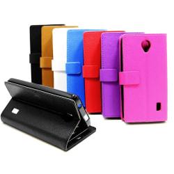 Standcase wallet Huawei Y635 Brun