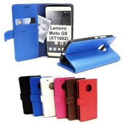 Standcase Wallet Lenovo Moto G5 (XT1682 / XT1676) Röd