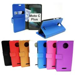 Standcase Wallet Moto C Plus Svart