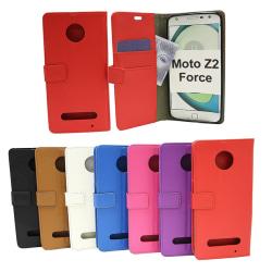 Standcase Wallet Moto Z2 Force Blå