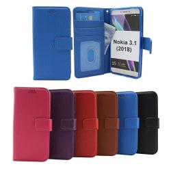 Standcase Wallet Nokia 3.1 (2018) Svart