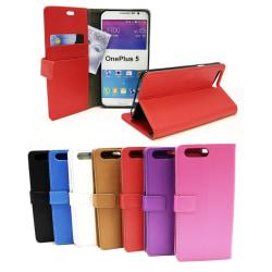 Standcase Wallet OnePlus 5 Vit