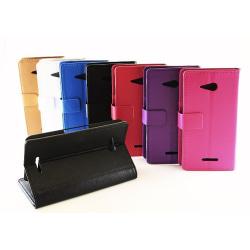 Standcase wallet Sony Xperia E4g (E2003) Vit