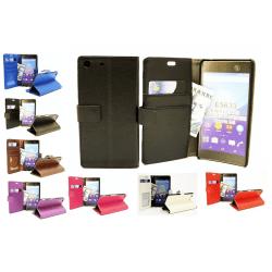 Standcase Wallet Sony Xperia M5 (E5603 / E5633) Svart