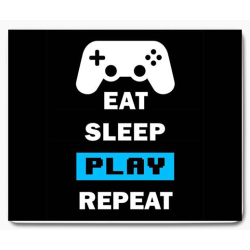 Gaming dator eat sleep game repeat 1 musmatta