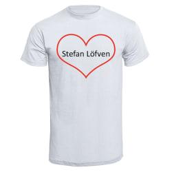 Stefan Löfven hjärta - T-shirt Röd M