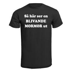 T-shirt - Så här ser en blivande mormor ut Svart M