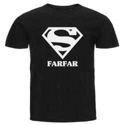 T-shirt - Super farfar Svart XL