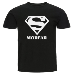T-shirt - Super morfar Svart L