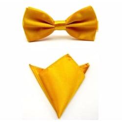 Paket - Fluga och näsduk - Gul gul
