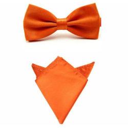 Paket - Fluga och näsduk - Orange orange