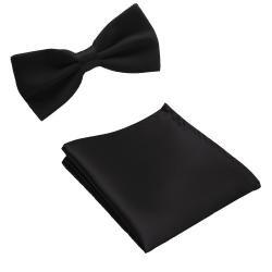 Paket - Fluga och näsduk - Svart svart