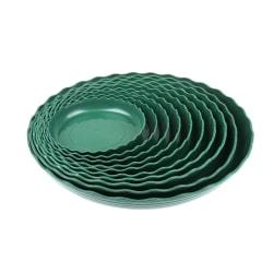 1/5pcs Round Small Medium Large Plastic green Plant Pot Saucer  A6(24cm) 5pcs