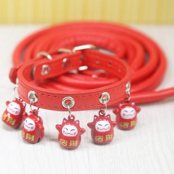 1/Set Pet Collar For Small Dogs Cats Dot Cute Extra Puppy Colla Red cat